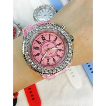 Geneva Led Trendy Dial Quartz Wrist Watch (Baby Pink) Price Philippines