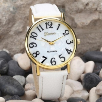 Geneva Mother Pearl Watch White