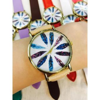 Geneva Multi Color Feather Trendy Watch (Beige) Price Philippines