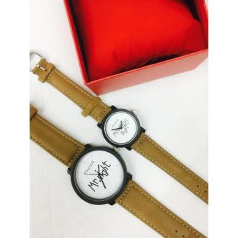Geneva Pollock Mr. Right and Mrs. Always Right Couple Watch (Brownand White)