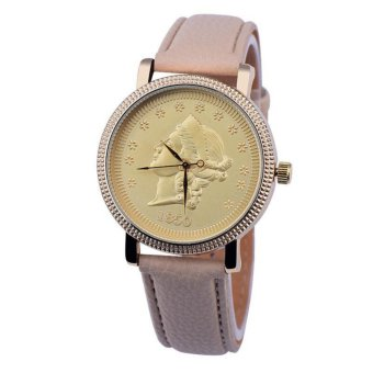 Geneva Sophisticated Gold Statue Image Leather Watch (Baby Pink) Price Philippines