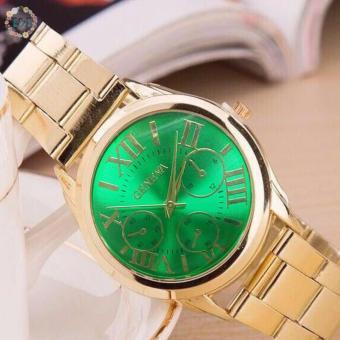 Geneva SY-3 Roman Numerals Women's Gold Steel-belt Watch - 3
