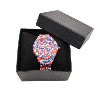 Geneva Woman's USA Red/Blue/White Ceramics Bracelet Watch - 3
