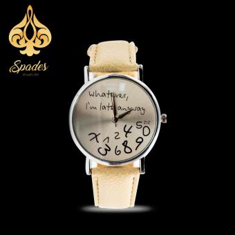 Geneva Women's Casual Watch What Ever Cream Leather Strap