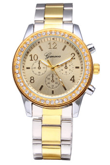Geneva Women's Silver Stainless Steel Band Watch 5800