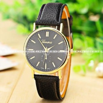 Geneva Women's Subdial Style Colored Leather Strap Watch