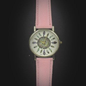Geneva Women's Casual Watch Small Feather Pink Leather StrapGE023N2 Price Philippines
