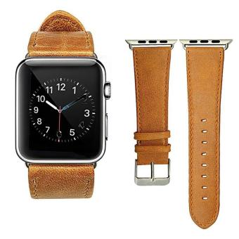 Genuine Leather 42mm Replacement Band with Secure Metal ClaspBuckle for Apple Watch Sport Edition - intl