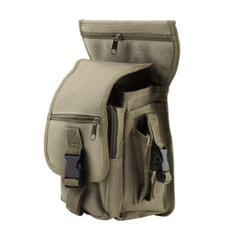 Gift Outdoor Tactical Military Drop Leg Bag Panel Utility Waist Belt Pouch Bag Mud-Colored - intl