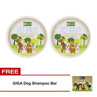 Giga Pure and Natural Pet Balm 120ml Set of 2 with FREE Giga DogShampoo Bar