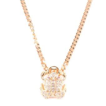 Glamorosa Diamond Frog Necklace (Gold)