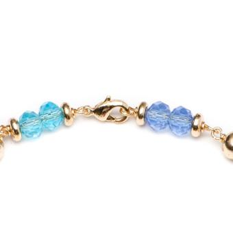 Glamorosa Duo Multi Gemstone Accent Charm Bracelet (Gold) - 2