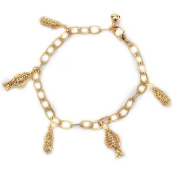 Glamorosa Fish and Nuts Chain Bracelet (Gold)
