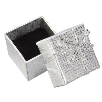 Glamorosa Half Diamond Symmetrical Ring (Silver) - 4