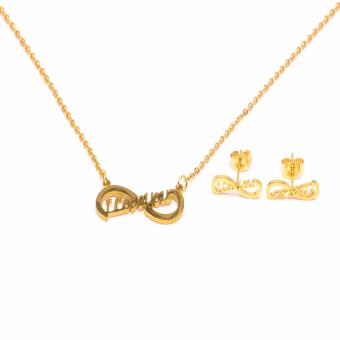 Glamorosa I Love You Infinity Necklace and Earrings Set (Gold) Price Philippines