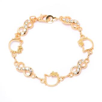 Glamorosa Infinity Kitty Charm Bracelet (Gold) Price Philippines