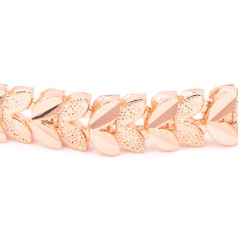Glamorosa Leafy Leaf Chain Bracelet (Gold) - 2