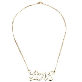 Glamorosa Love Chain Necklace For Kinds (Gold)