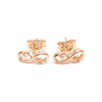 Glamorosa Loving Infinity Heart Stud Earrings (Gold) Buy 1Take 2 - 4