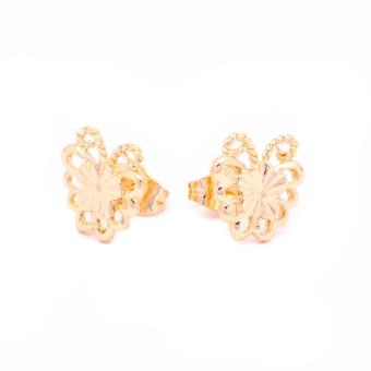 Glamorosa Monarch Butterfly in 14K Gold Platted Stud Earrings (Gold) Buy 1 Take 2 Assorted Earrings - 3