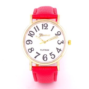 Glamorosa Mother of Pearl Leather Wrist Watch (Hot Pink)