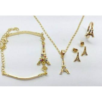 Glamorosa Multi Gem Eiffel Tower Accessorie Set