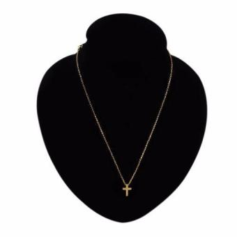 GMY Gold Plated Cross Pendant Necklace