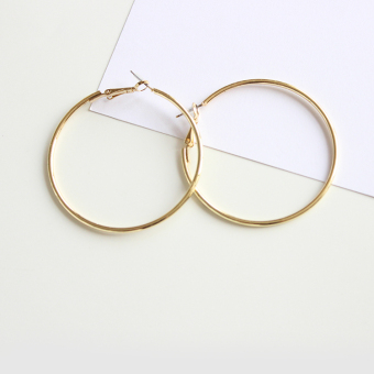 Gold New style big circle large earrings