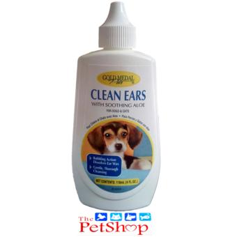 Golden Medal Pets Clean Ears W/ Soothing Aloe (118ml For Dogs & Cats) - 4 Oz