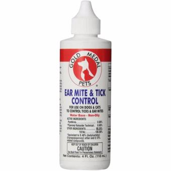 Golden Medal Pets Ear Mite & Tick Control (118ml for Dogs &Cats)