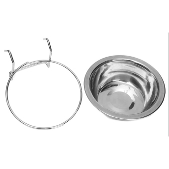 GOOD Stainless Steel Hanging Bowl Feeding Bowl Pet Bird Dog FoodWater Cage Cup Price Philippines