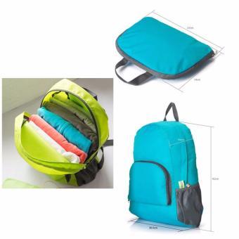 GS Lightweight Nylon Travel Backpack Waterproof Foldable Bag - 3