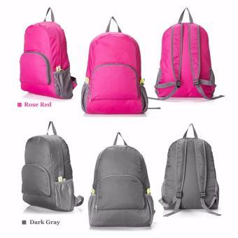 GS Lightweight Nylon Travel Backpack Waterproof Foldable Bag - 2