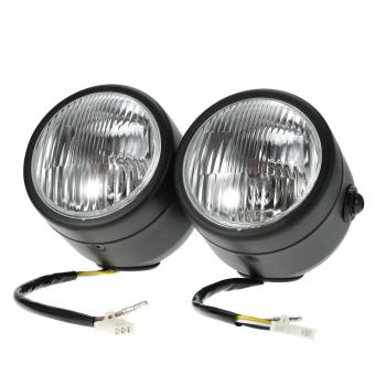 H4 12V 35W 4-inch Motorcycle Twin Headlight Front Lamp for Harley -intl