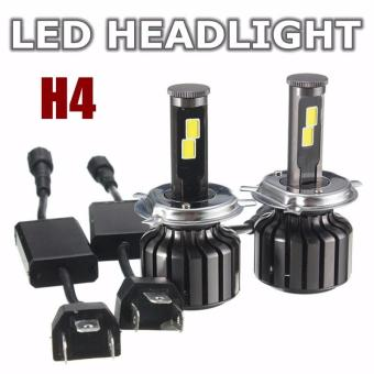 H4 Hi/Lo 120W 10000LM CREE LED Headlight Kit Hi/Lo Beam Bulbs 6000K - intl Price Philippines
