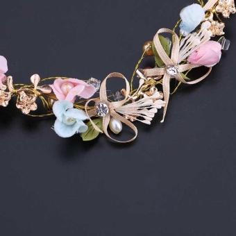 Handmade Lace Bowknot Headbands Lace Flower Pearl Bridal TiarasHair Accessories Hair Jewelry Wedding Bowknot Head Band - intl - 5