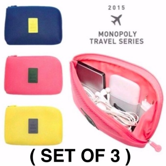 Handy Travel Gadget Organizer Pouch (Set of 3) PROMO SALE !