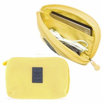 Handy Travel Gadget Organizer Pouch Yellow