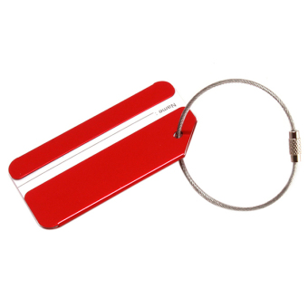 Hang-Qiao Boarding Pass Luggage Tag Aluminum Alloy (Red) - picture 2