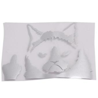 Hang-Qiao Grumpy Cat Funny Car Stickers Decals White