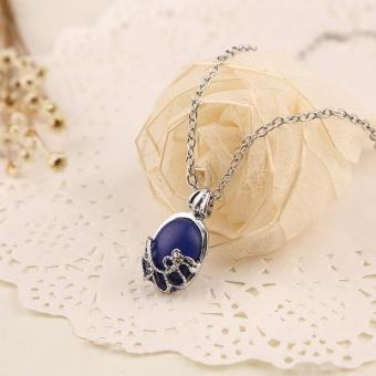 Hang-Qiao Vintage Silver The Vampire Diaries Katherine AntiSunlight Silver Natural Stone Necklace - Intl Price Philippines
