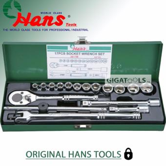 "Hans Tools 3617-2A 3/8"" Drive 17 pcs. Heavy Duty 6 Points Socket Wrench Set (1/4"" - 7/8"")"