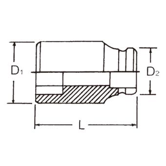 "Hans Tools 86400M-35mm 3/4"" Drive 6 Points Impact Socket (Black) - picture 2"