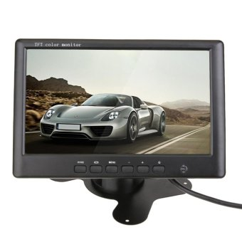 HD 800 x 480 7 Inch Color TFT LCD Car Rear View Monitor With 2Ch Video - intl