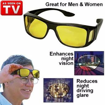 HD Vision Anti Glare Night View Driving Glasses Wrap Around Sunglasses - 5