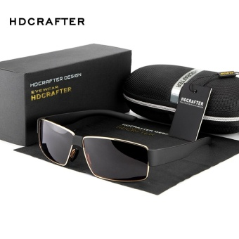 HDCRAFTER Polarized Sunglasses Men Brand Designer Sun Glasses Driving Glasses Male Sunglasses Eyewear shades E013