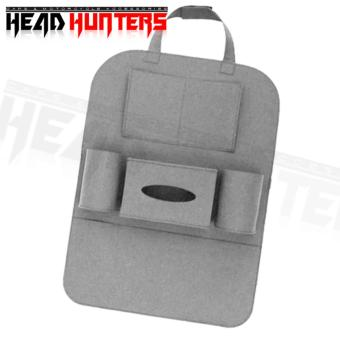 Head Hunters Automotive Car Seat Back Organizer (Grey)