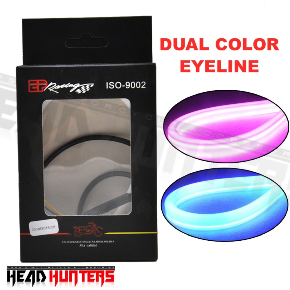 Philippines Head Hunters Automotive Universal Waterproof Flasher Led Strip Motorcycle Dual Colorled Eye Line Drl Running Driving