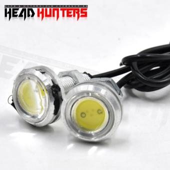 Head Hunters Motorcycle Eagle Eye Neon Color LED Fog Lights (White)