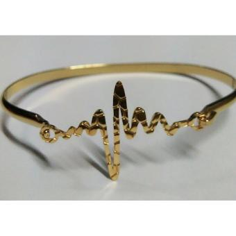 HEARTBEAT BANGLE STAINLESS STEEL GOLD PLATED Price Philippines